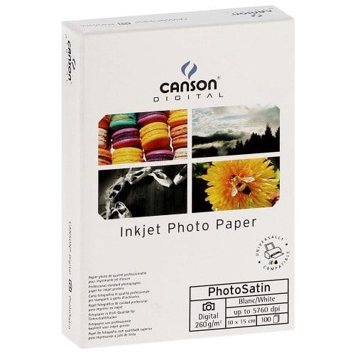 Papier jet d'encre CANSON CANSON Infinity Photosatin Digital 260g - A6 (10x15cm) - 100 feuilles