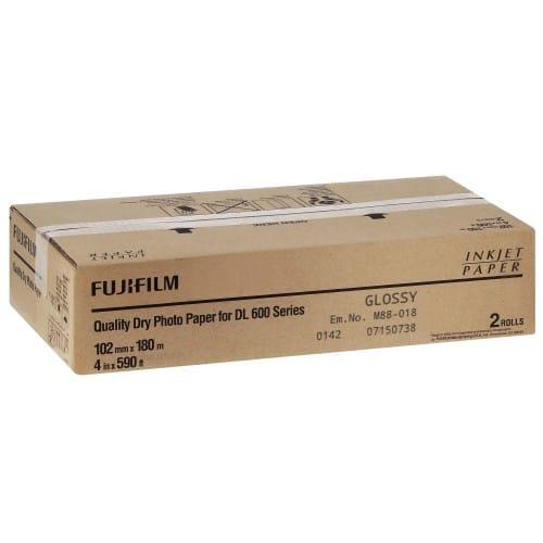Papier jet d'encre FUJI Papier brillant DL220 pour DL600 / DL650 - 102mm x 180m - 2 rouleaux