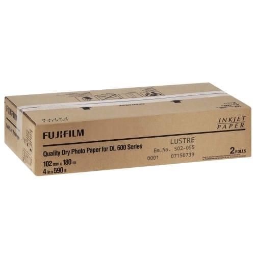 Papier jet d'encre FUJI Papier lustré DL220 pour DL600 / DL650 - 102mm x 180m - 2 rouleaux