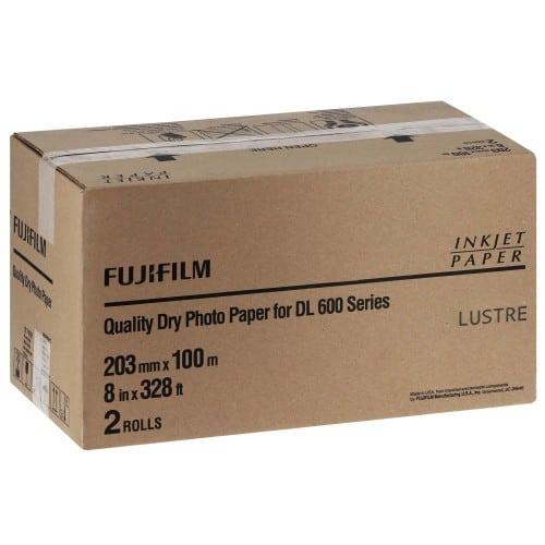 Papier jet d'encre FUJI Papier lustré DL220 pour DL600 / DL650 - 203mm x 100m - 2 rouleaux