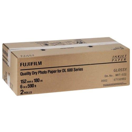 Papier jet d'encre FUJI Papier brillant DL220 pour DL600 / DL650 - 152mm x 180m - 2 rouleaux