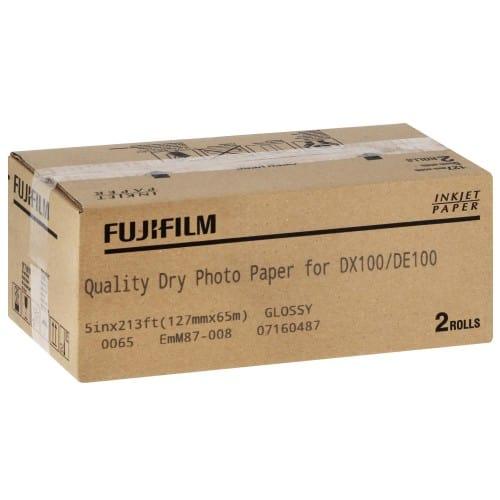 Papier jet d'encre FUJI Papier brillant 230g pour DX100 - 127mm x 65m - 2 rouleaux