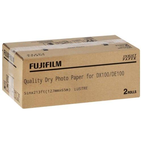 Papier jet d'encre FUJI Papier lustré 230g pour DX100 - 127mm x 65m - 2 rouleaux