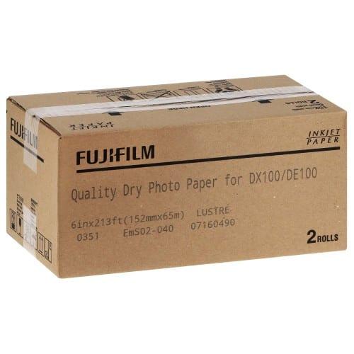 Papier jet d'encre FUJI Papier lustré 230g pour DX100 - 152mm x 65m - 2 rouleaux