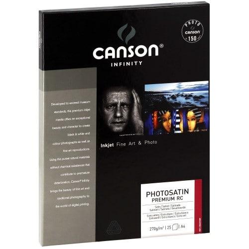 Papier jet d'encre CANSON CANSON Infinity Photosatin Premium RC extra blanc 270g - A4 - 25 feuilles