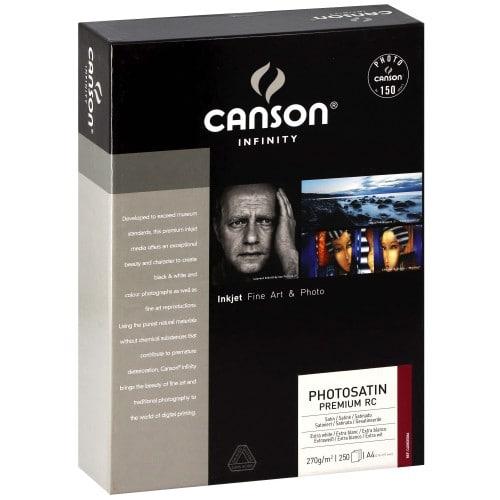 Papier jet d'encre CANSON CANSON Infinity Photosatin Premium RC extra blanc 270g - A4 - 250 feuilles