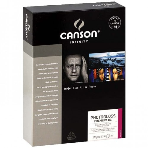 CANSON - Papier jet d'encre Infinity Photogloss Premium RC extra blanc 270g - A4 (21x29,7cm) - 250 feuilles