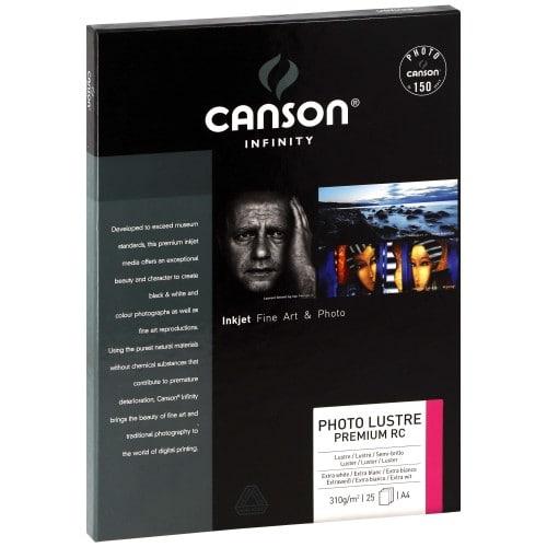 Papier jet d'encre CANSON CANSON Infinity Photolustré Premium RC extra blanc 310g - A4 - 25 feuilles