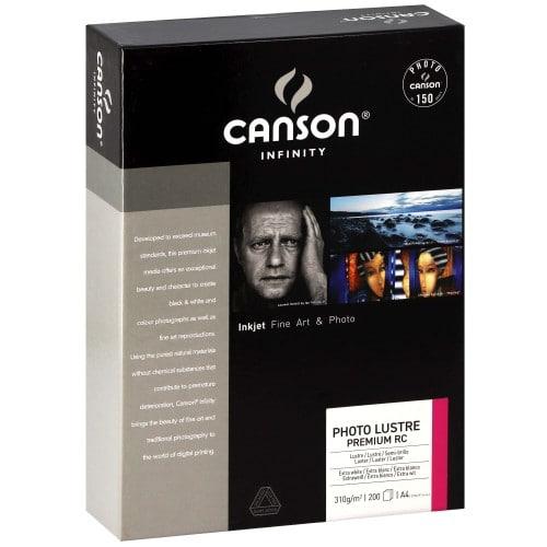 Papier jet d'encre CANSON CANSON Infinity Photolustré Premium RC extra blanc 310g - A4 - 200 feuilles