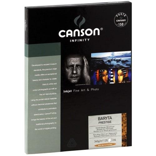 Papier jet d'encre CANSON CANSON Infinity Baryta Prestige brillant blanc 340g - A4 - 25 feuilles