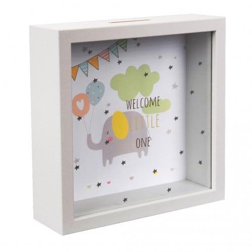 Goldbuch Cadre Tirelire Welcome Littlle One 18x18x5cm