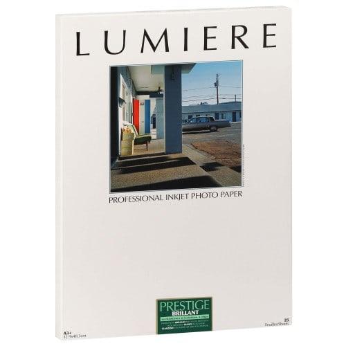 Papier jet d'encre LUMIERE LUMIERE PRESTIGE papier RC brillant 310g - A3+ - 25 feuilles