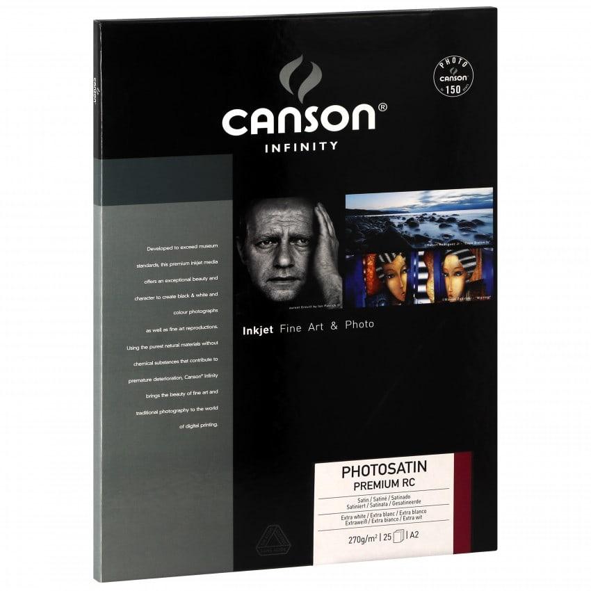 Papier jet d'encre CANSON CANSON Infinity Photosatin Premium RC  extra blanc 270g - A2 - 25 feuilles
