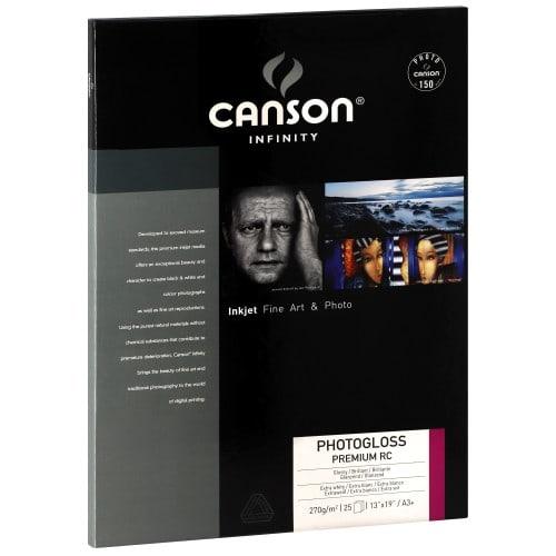 Papier jet d'encre CANSON CANSON Infinity Photogloss Premium RC  extra blanc - 270g  - A3+ - 25 feuilles