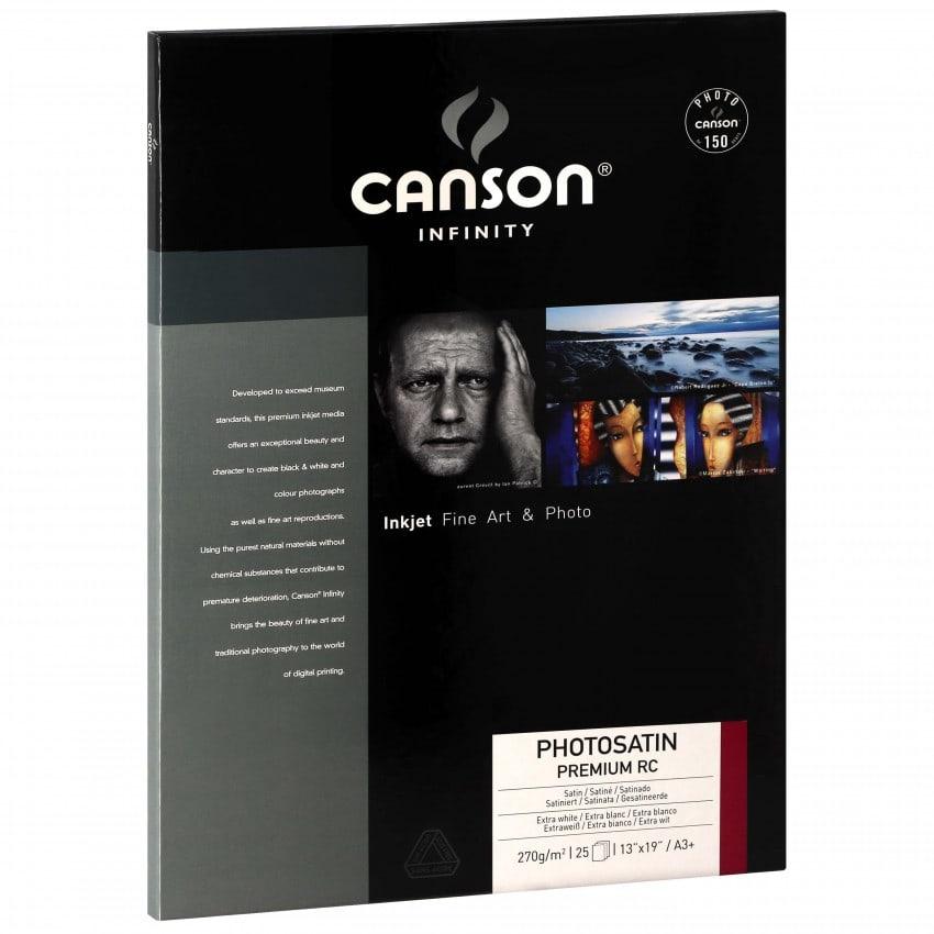 Papier jet d'encre CANSON CANSON Infinity Photosatin Premium RC extra blanc 270g - A3+ - 25 feuilles