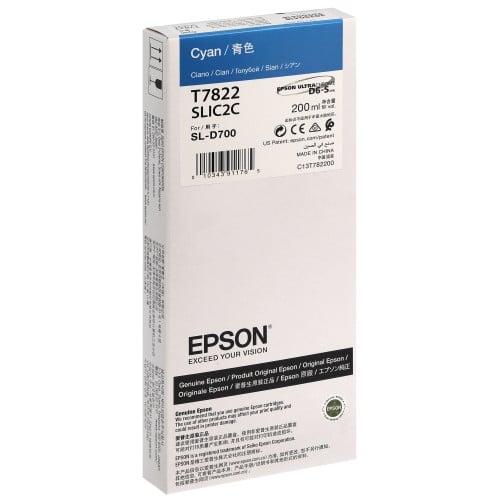 Cartouche d'encre EPSON C13T782200 - Cyan - Pour D700/D7