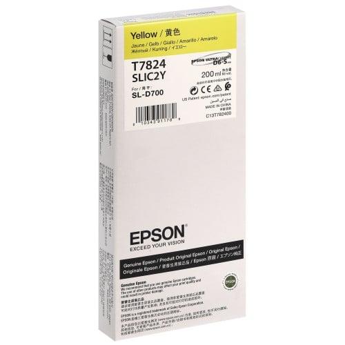 Cartouche d'encre EPSON C13T782400 - Jaune - Pour D700/D7