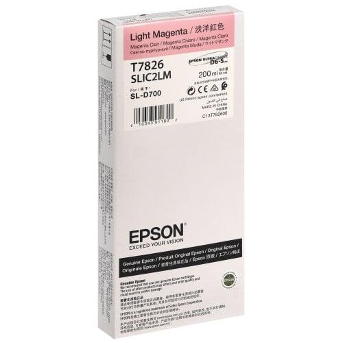 Cartouche d'encre EPSON C13T782600 - Magenta Clair - Pour D700/D7