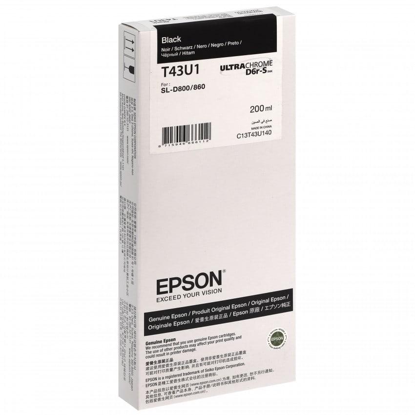 Epson SureLab encre noire pour D800 (réf C13T43U140)