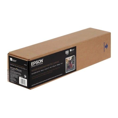 """Toile canvas jet d'encre EPSON Premier toile Polycoton mat 375g - 17"""" (43,2cm) - 12,2m"""