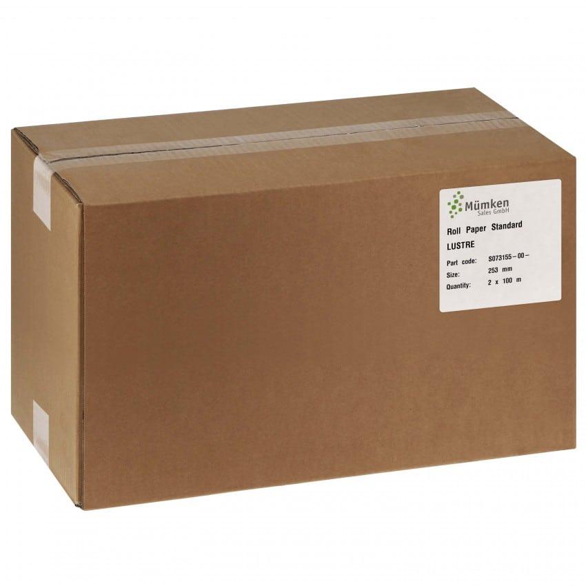 Papier jet d'encre NORITSU Standard lustré 250g pour D703 / D705 / D1005 / GREEN - 254mm x 100m - 2 rouleaux