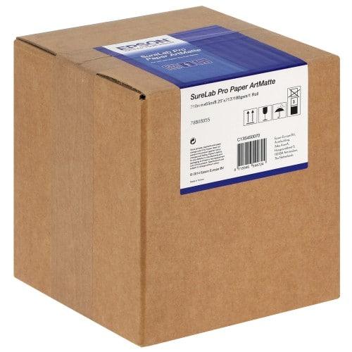 Papier jet d'encre EPSON SureLab Pro-S Art-mat 180g pour D700/ D7 - 210mm x 65m - 1 rouleau