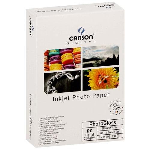 Papier jet d'encre CANSON CANSON Infinity Photogloss Digital 260g - A6 (10x15cm) - 100 feuilles