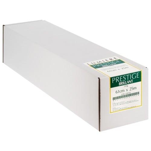 """Papier jet d'encre LUMIERE Lumière Prestige RC brillant 310g - 24"""" (61cm ) - 25m"""