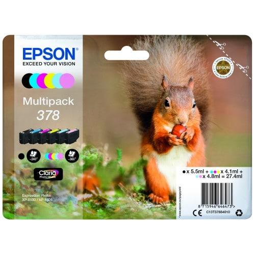 T3788 Ecureuil n°378 - Pack 6 Couleurs pour imprimantes XP-8600 & XP-15000