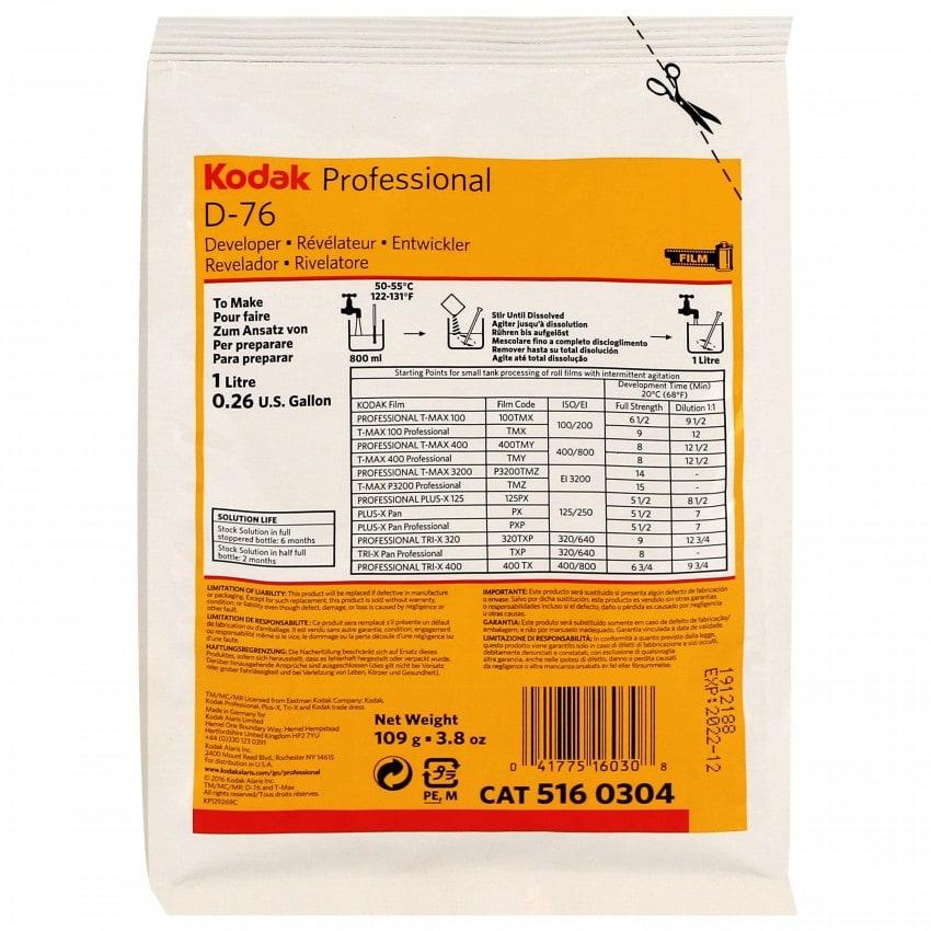 Révélateur film KODAK poudre - Sachet de 109g (Pour 1L) 5160304 D-76