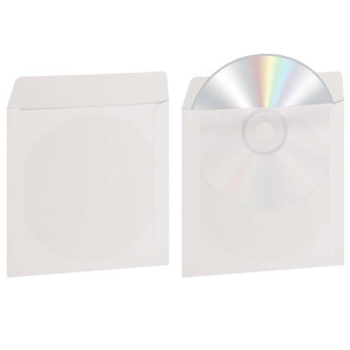 Pochette pour CD et DVD avec fenêtre transparente