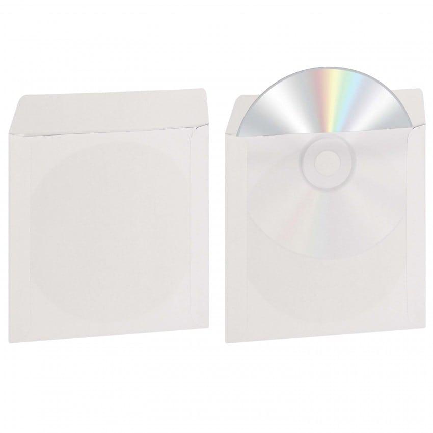 Pochette pour CD et DVD MB TECH avec fenêtre transparente