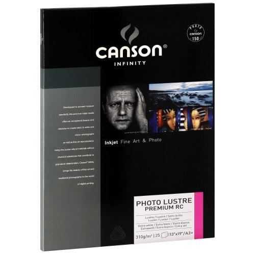 Papier jet d'encre CANSON CANSON Infinity Photolustré Premium RC extra blanc 310g - A3+ - 25 feuilles