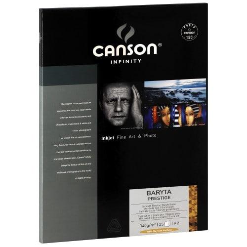 Papier jet d'encre CANSON CANSON Infinity Baryta Prestige brillant blanc 340g - A2 - 25 feuilles