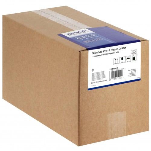 EPSON - Papier jet d'encre SureLab Pro-S lustré 248g pour D700/ D7/ D800 - 89mm x 65m - 4 rouleaux - BP marqué au dos
