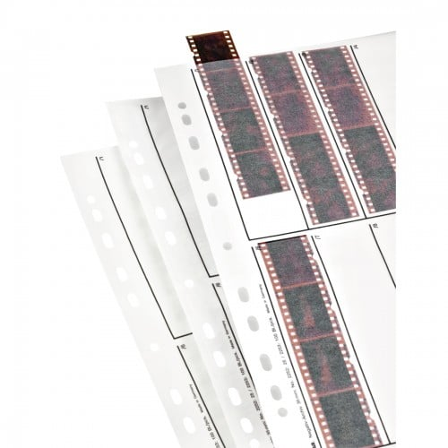 A4 - en papier cristal (pergamine) pour négatif 135 - 10 bandes de 4 vues - Paquet de 25