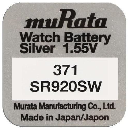 Pile montre 371 (SR920SW) 1.55V  Blister d'1 pile