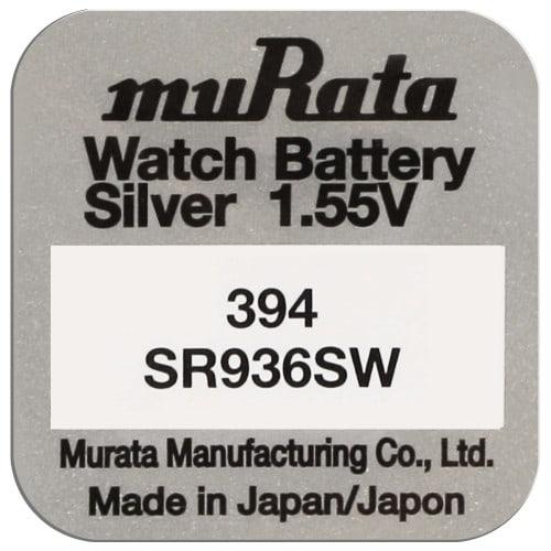 Pile montre 394 (SR936SW) 1.55V Blister d'1 pile