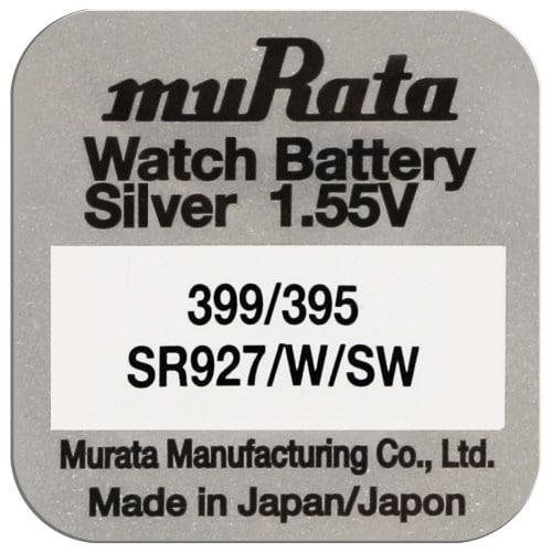 Pile montre 395 (SR927SW) 1.55V Blister d'1 pile