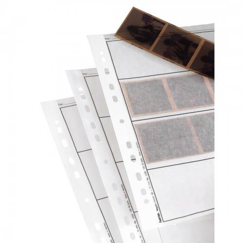 HAMA - Feuillets de classement A4 - en papier cristal (pergamine) pour négatif 120 - 4 bandes de 3 vues 6x7cm - Paquet de 100