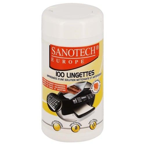 Dépoussiérant antistatique SANOTECH - Lingettes - Distributeur de 100