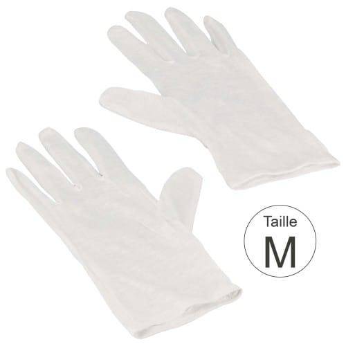 Gant MB TECH blanc 100% coton naturel - Haute qualité - Taille M (8,5) - La paire