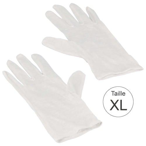 Gant MB TECH blanc 100% coton naturel - Haute qualité - Taille XL (9,5) - La paire