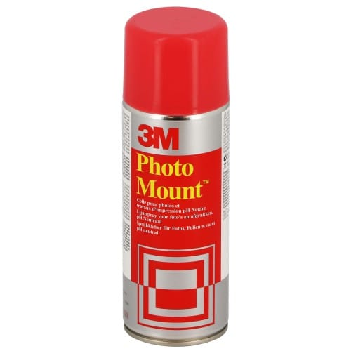 Bombe spray colle 3M Photo Mount pour photos, travaux d'impression Collage permanent 400ml