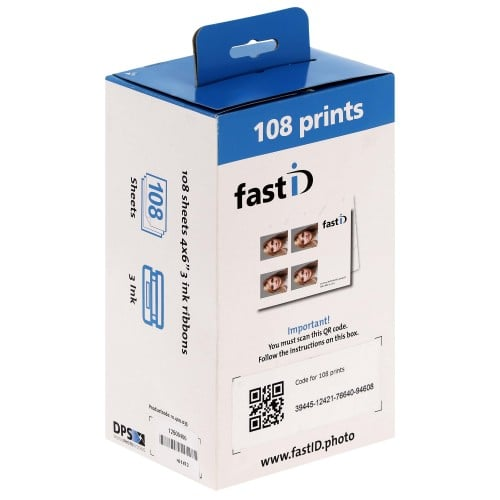 Papier thermique identité ID STATION pour FAST-ID - Carton de 108 tirages 10x15cm