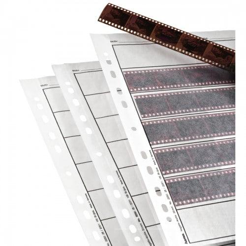 HAMA - Feuillets de classement A4 - en papier cristal (pergamine) pour film 135 - 7 bandes de 6 vues - Paquet de 25