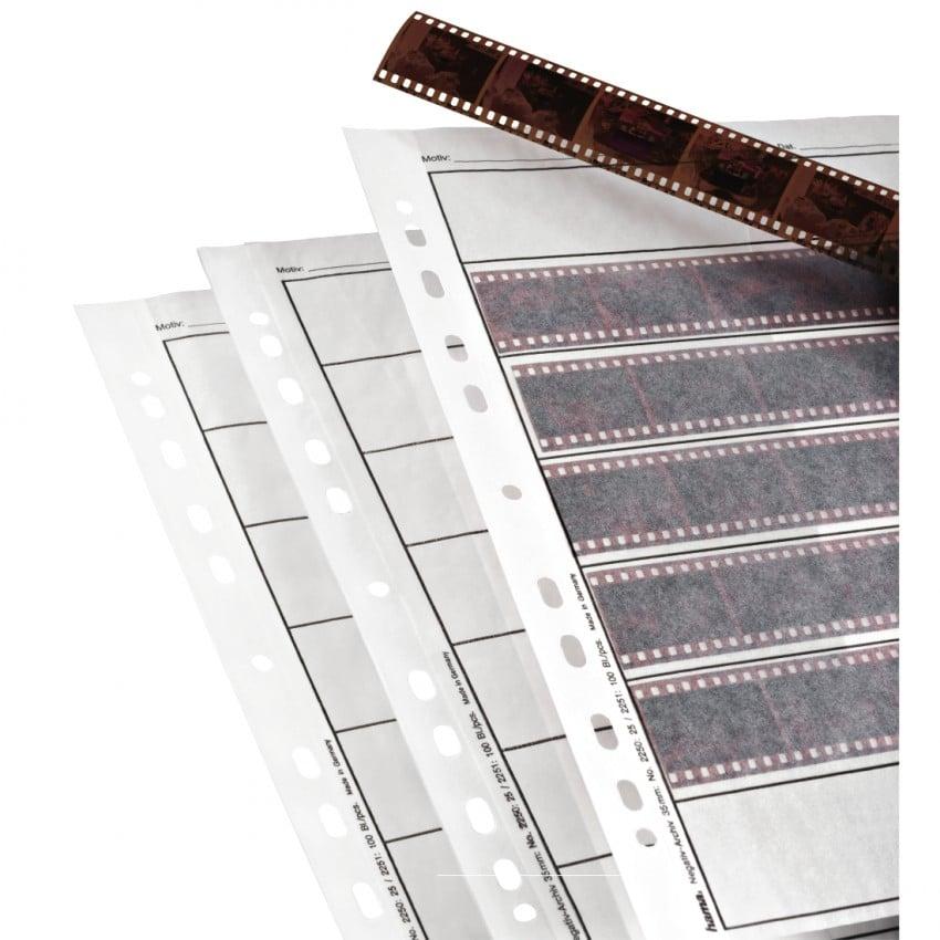 Hama Feuillets classeur cristal 7 bandes de 6 négatifs 24x36mm 25p