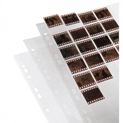 HAMA - Feuillets de classement A4 - en polypropylène 80µ pour films 135 pour 40 vues coupées individuellement - Paquet de 25