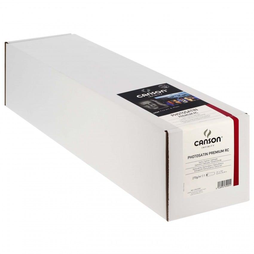 """Papier jet d'encre CANSON Infinity Photosatin Premium RC extra blanc 270g - 24"""" (61cm) - 30m"""