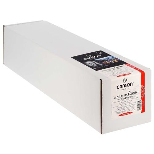 """Toile canvas jet d'encre CANSON Infinity Muséum ProCanvas Water Résistant 100% Coton lustré 385g - 24"""" (61cm) - 12,2m"""